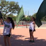 Color Guard Rehearsal