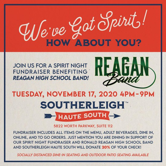 Reagan Band November Spirit Night Southerleigh Haute South (The Rim)