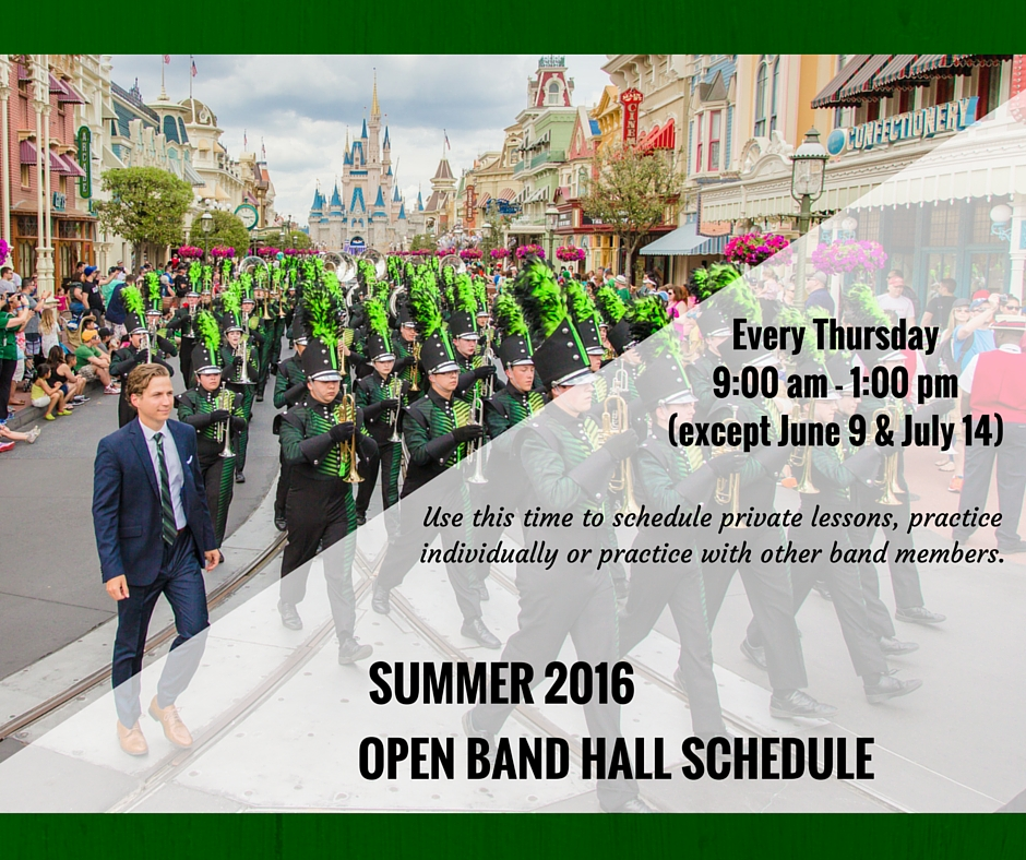 Open Band Hall Schedule